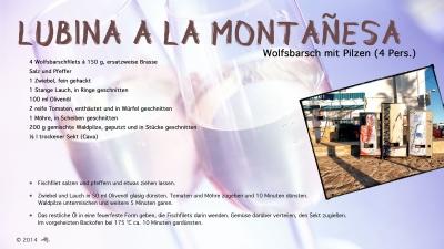 Cantina № 15 – Lubina a la montañesa (Wolfsbarsch mit Pilzen) © Hans Keller