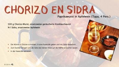Cantina № 18 – Chorizo en sidra (Paprikawurst in Apfelwein) © Hans Keller