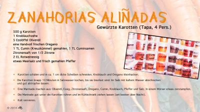 Cantina № 23 – Zanahorias aliñadas (gewürzte Karotten) © Hans Keller
