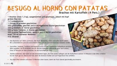 Cantina № 32 – Besugo al horno con patatas (Brachse mit Kartoffeln) © Hans Keller