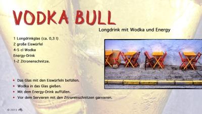 Cantina # 50 | Vodka bull (Longdrink mit Wodka und Energy-Drink) © Hans Keller