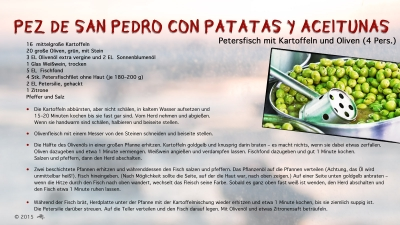Cantina # 51 | Pez de San Pedro con Patatas y Aceitunas (Petersfisch mit Kartoffeln und Oliven) © Hans Keller