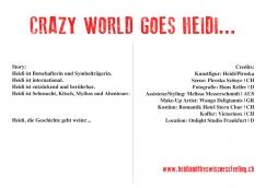 """""""Heidi zurück in Frankfurt"""" - Flyer © Hans Keller"""