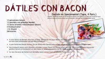 Cantina № 13 – Dátiles con bacon © Hans Keller