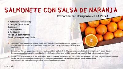 Cantina № 17 – Salmonete con salsa de naranja (Rotbarbe mit Orangensauce) © Hans Keller