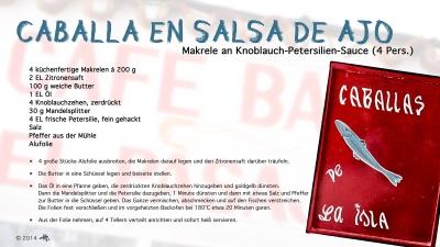 Cantina № 26 – Caballa en salsa de ajo (Makrele an Knoblauch-Petersilien-Sauce) © Hans Keller