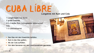 Cantina № 27 – Cuba líbre (Longdrink mit Rum und Cola) © Hans Keller