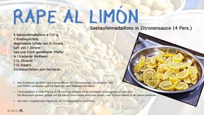 Cantina #33 | Rape al limón (Seeteufelmadaillons in Zitronensauce) © Hans Keller
