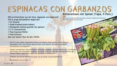 Cantina # 40 | Espinacas con garbanzos (Spinat mit Kichererbsen) © Hans Keller