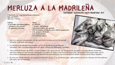 Cantina № 47 | Merluza a la Madrileña (Gefüllter Seehecht nach Madrider Art) © Hans Keller